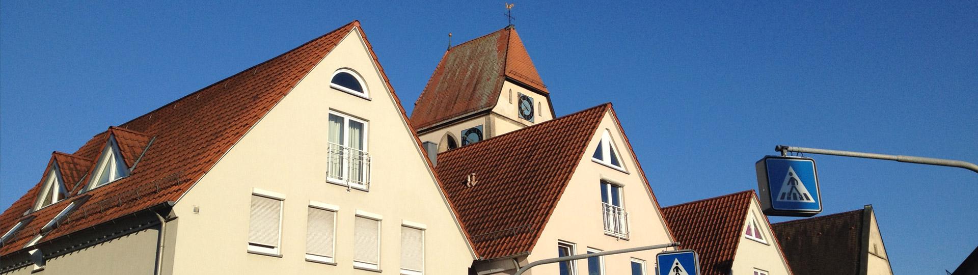 GHV Ehningen Marktplatz Dächer
