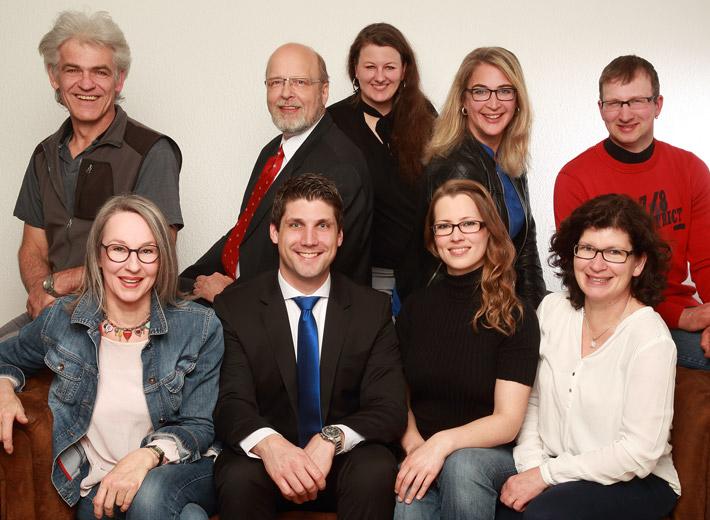 Vorstand und Ausschussmitglieder des Gewerbe- und Handelsverein Ehningen 2017 vorne von links nach rechts: Hannelore Röhm, Alexander Korherr, Sybille Nehring, Ursula Kasberger hinten von links nach rechts: Hans-Peter Lempert, Hillrich Meyer, Katja Kaczmarczyk, Nicole Boese, Tobias Klein