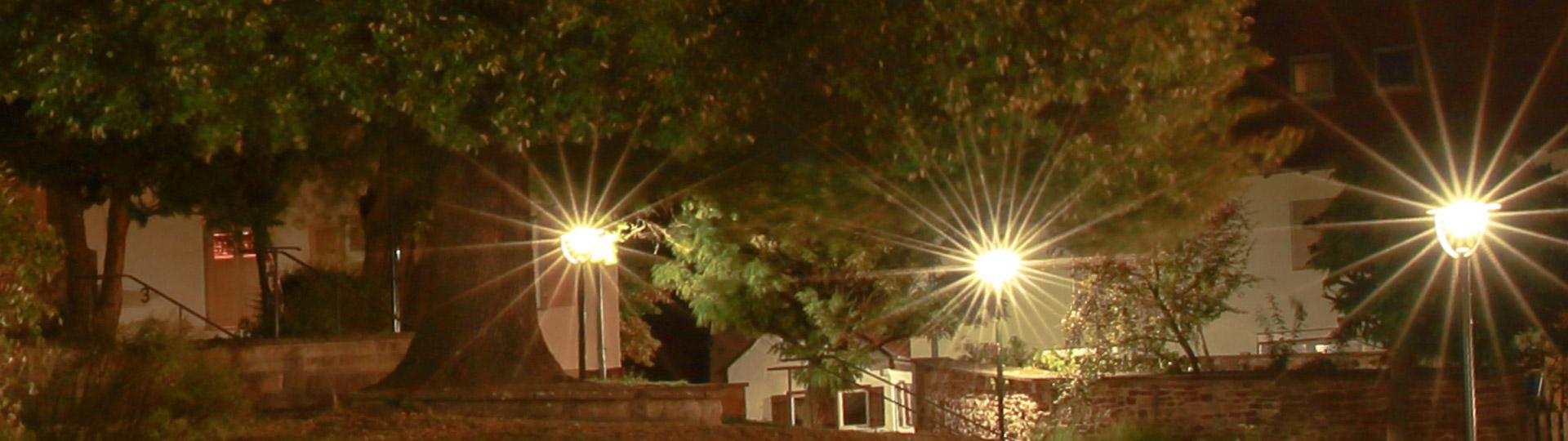Ehningen bei Nacht, Strahlende Lichter