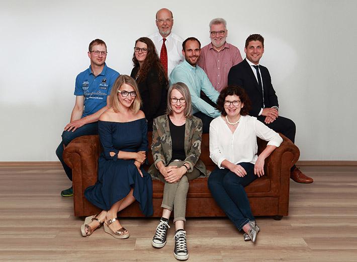Teamfoto Vorstand und Beirat Gewerbe- und Handelsverein Ehningen